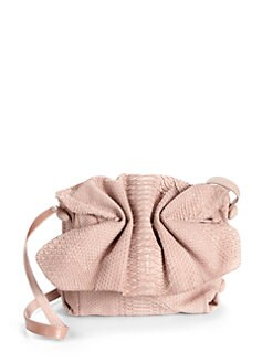 Carlos Falchi - Buffalo Medium Python Satchel/Beige
