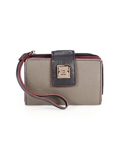 Olivia Harris by Joy Gryson - Leather Tech Wallet/Mushroom