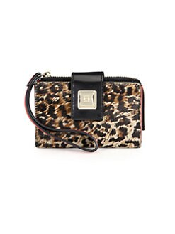 Olivia Harris by Joy Gryson - Leopard-Print Haicalf Tech Wallet