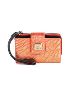 Olivia Harris by Joy Gryson - Leather Tech Wallet/Lipstick Spice