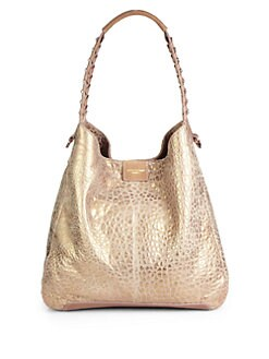 Olivia Harris - Hunger Gahan Metallic-Pebbled Hobo