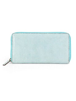 LODIS - Stingray Ivy Zip-Around Wallet/Blue