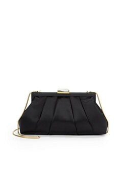 Franchi - Halley Pleated Clutch/Black