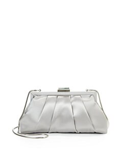 Franchi - Halley Pleated Clutch/Silver