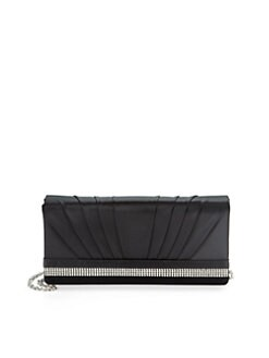 Franchi - Janet Rhinestone Mesh Clutch/Black