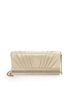Franchi - Janet Rhinestone Mesh Clutch/Champagne
