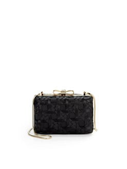 Franchi - Vania Bow Box Clutch/Black