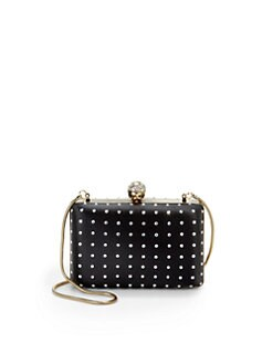 Franchi - Tori Embellished Box Clutch/Black