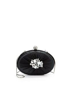 Franchi - Adelina Embellished Clutch/Black