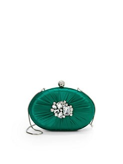 Franchi - Adelina Embellished Clutch/Green