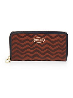 Missoni - Zigzag-Embossed Leather Zip-Around Wallet