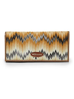 Missoni - Flame Stitch Continental Wallet/Natural
