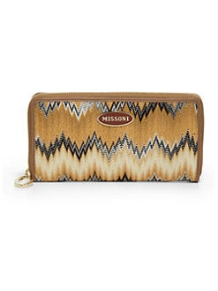 Missoni - Flame Stitch Zip-Around Wallet/Natural
