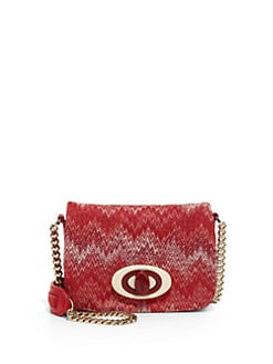 Missoni - Flame Stitch Mini Crossbody Bag/Red