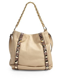 Be & D - Donnington Snakeskin-Printed Shoulder Bag