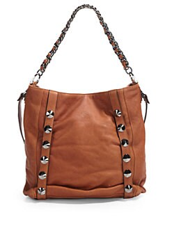 Be & D - Donnington Lambskin Shoulder Bag/Brown