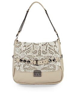Be & D - Woodstock Laser Cut Large Shoulder Bag