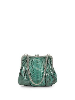 Clara Kasavina - Ginger Crystal & Python Clutch
