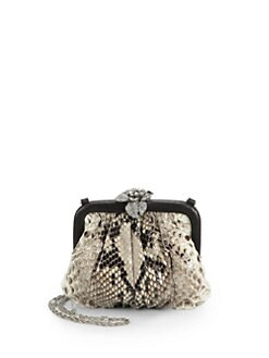 Clara Kasavina - Angela Python & Crystal Clutch/Natural