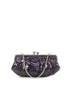 Clara Kasavina - New Tamara Python & Crystal Clutch/Purple