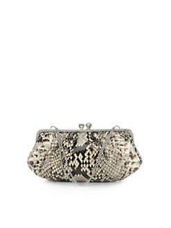 Clara Kasavina - New Tamara Python & Crystal Clutch/Natural