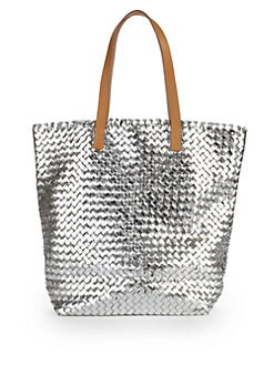 Massimo Palomba - Cancun Metallic Woven Leather Tote