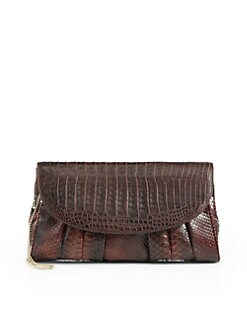 Armenta - Gathered Python Clutch/Brown