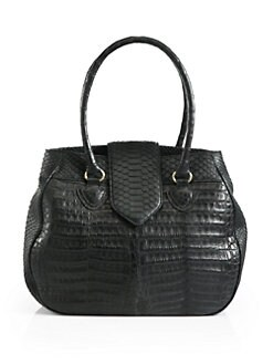 Armenta - Caiman & Python Rounded Top Handle Bag