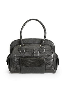 Armenta - Caiman Crocodile & Python Doctor Bag/Black