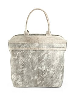 Armenta - Large Brushed Python Tote/Stone