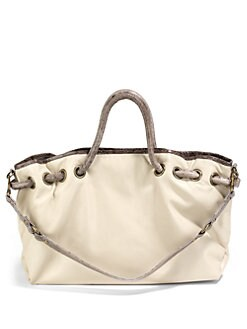 Beirn - Hannah Leather Drawstring Top Tote