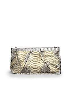 Judith Leiber - Margaux Crystal Python Clutch