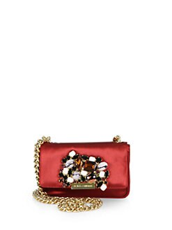 Dolce & Gabbana - Miss Stone Satin Mini Crossbody Bag