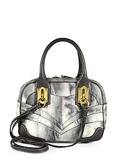 Dolce & Gabbana - Miss Edge Small Bowling Bag/Grey