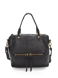 orYANY - Pebbled Leather Top Handle Bag/Black