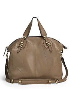 orYANY - Pebbled Leather Satchel
