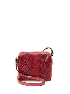 Be & D - Pippa Python Crossbody Bag/Red