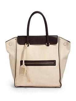 Badgley Mischka - Josette Cambridge Tote/Cream & Brown