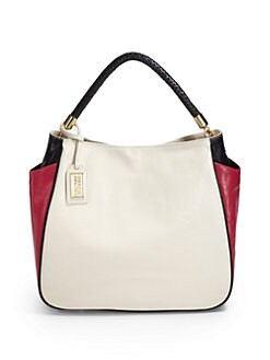 Badgley Mischka - Jasmine Tricolor Tote/Cream