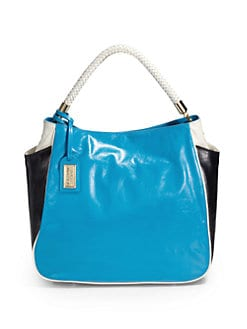 Badgley Mischka - Jasmine Tricolor Tote/ Blue