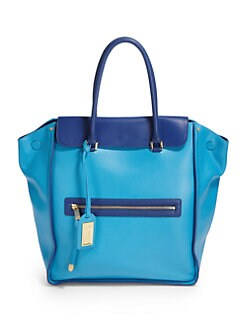 Badgley Mischka - Josette Cambridge Tote/Turquoise & Cobalt