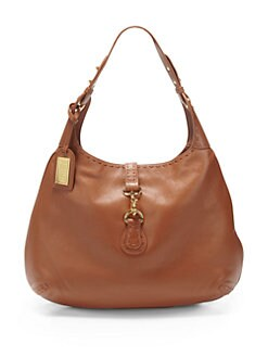 Badgley Mischka - Maelle Contrast Sitch Leather Hobo