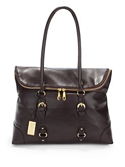 Badgley Mischka - Robyn Buckle-Detail Leather Satchel