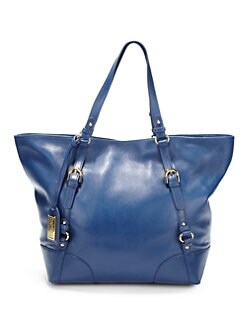 Badgley Mischka - Robyn Buckle-Detail Leather Tote