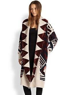 Burberry Prorsum - Hooded Blanket Coat