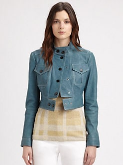 Burberry London - Cropped Leather Jacket