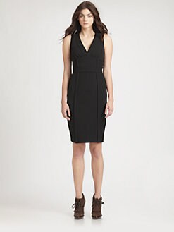 Burberry London - V-Neck Crepe Dress