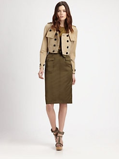 Burberry London - Cropped Gabardine Trench Jacket