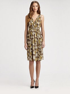 Burberry London - Texture Print Silk Dress
