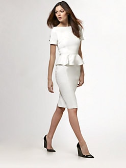 Burberry London - Peplum Jersey Dress